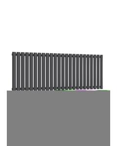 Reina Neval Aluminium Designer Radiator, Anthracite, 600mm x 1407mm
