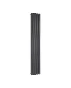 Reina Neval Aluminium Designer Radiator, Anthracite, 1800mm x 286mm - Double Panel