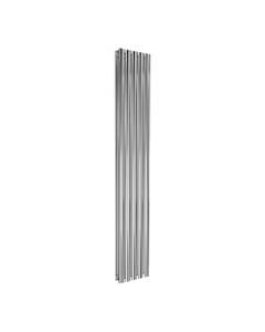 Reina Neval Aluminium Designer Radiator, Polished, 1800mm x 286mm - Double Panel