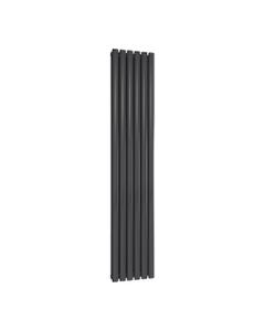 Reina Neval Aluminium Designer Radiator, Anthracite, 1800mm x 345mm - Double Panel