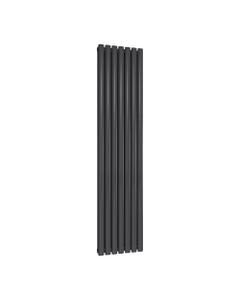Reina Neval Aluminium Designer Radiator, Anthracite, 1800mm x 404mm - Double Panel