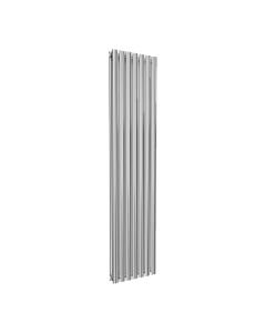 Reina Neval Aluminium Designer Radiator, Polished, 1800mm x 404mm - Double Panel