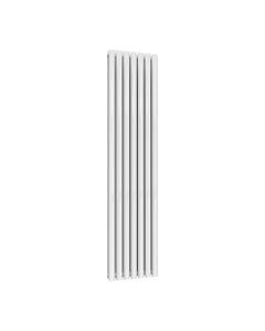 Reina Neval Aluminium Designer Radiator, White, 1800mm x 404mm - Double Panel