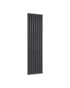 Reina Neval Aluminium Designer Radiator, Anthracite, 1800mm x 463mm - Double Panel