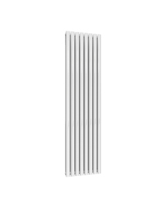 Reina Neval Aluminium Designer Radiator, White, 1800mm x 463mm - Double Panel