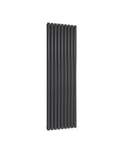 Reina Neval Aluminium Designer Radiator, Anthracite, 1800mm x 522mm - Double Panel