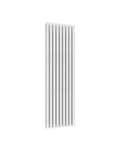 Reina Neval Aluminium Designer Radiator, White, 1800mm x 522mm - Double Panel