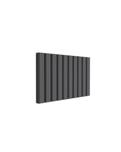 Reina Vicari Aluminium Designer Radiator, Anthracite, 600mm x 1000mm - Double Panel