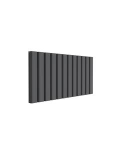 Reina Vicari Aluminium Designer Radiator, Anthracite, 600mm x 1200mm - Double Panel