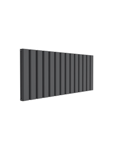 Reina Vicari Aluminium Designer Radiator, Anthracite, 600mm x 1400mm - Double Panel
