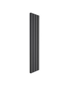 Reina Vicari Aluminium Designer Radiator, Anthracite, 1800mm x 400mm - Double Panel