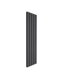 Reina Vicari Aluminium Designer Radiator, Anthracite, 1800mm x 500mm - Double Panel