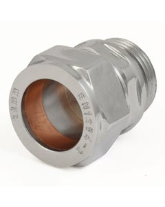 West Chrome Admiral 22mm Compression Adapter
