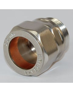 West Satin Nickel Rosa 22mm Compression Adapter