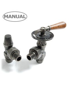 West Manual Valves, Abbey Lever, Pewter Angled - 22mm