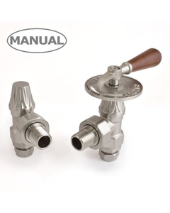 West Manual Valves, Abbey Lever, Satin Nickel Angled
