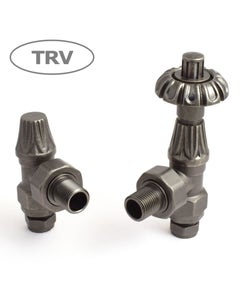 West Thermostatic Valves, Abbey, Pewter Angled