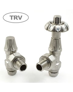West Thermostatic Valves, Abbey, Satin Nickel Angled - 22mm