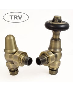 West Thermostatic Valves, Admiral, Antique Brass Angled