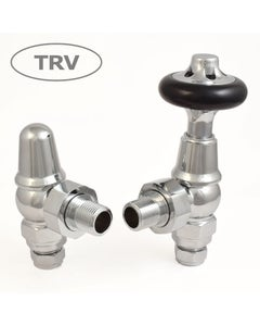 West Thermostatic Valves, Admiral, Chrome Angled
