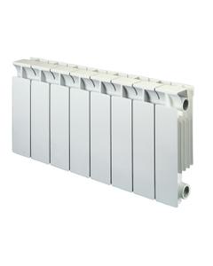 Nordic Square Aluminium Radiator, White, 390mm x 260mm