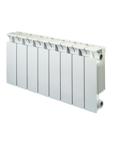 Nordic Square Aluminium Radiator, White, 390mm x 420mm