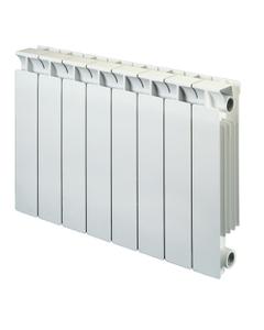 Nordic Square Aluminium Radiator, White, 440mm x 340mm