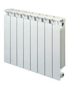 Nordic Square Aluminium Radiator, White, 590mm x 420mm