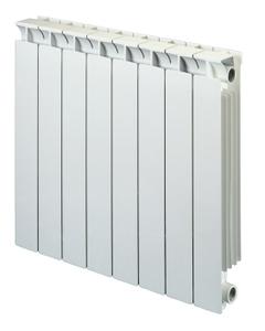 Nordic Square Aluminium Radiator, White, 690mm x 260mm