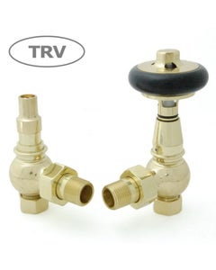 West Thermostatic Valves, Amberley, Polished Brass Angled