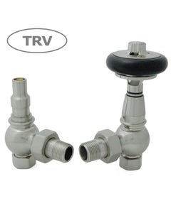 West Thermostatic Valves, Amberley, Satin Nickel Angled