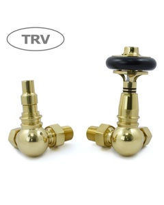 West Thermostatic Valves, Amberley, Polished Brass Corner