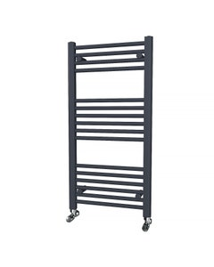 Trade Direct Towel Rail - 22mm, Anthracite Straight, 1000x500mm (Electric)
