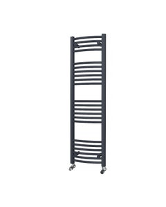Trade Direct Towel Rail - 22mm, Anthracite Curved, 1400x400mm