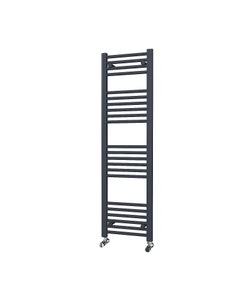 Trade Direct Towel Rail - 22mm, Anthracite Straight, 1400x400mm (Electric)