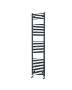 Trade Direct Towel Rail - 22mm, Anthracite Straight, 1800x400mm