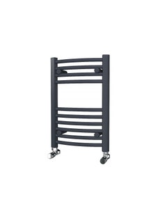Trade Direct Towel Rail - 22mm, Anthracite Curved, 600x400mm (Electric)