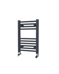 Trade Direct Towel Rail - 22mm, Anthracite Straight, 600x400mm