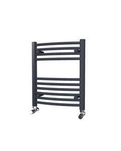 Trade Direct Towel Rail - 22mm, Anthracite Curved, 600x500mm (Electric)