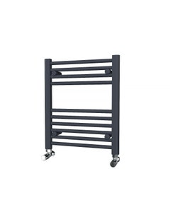 Trade Direct Towel Rail - 22mm, Anthracite Straight, 600x500mm (Electric)