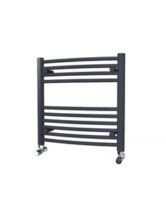 Trade Direct Towel Rail - 22mm, Anthracite Curved, 600x600mm (Electric)