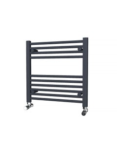 Trade Direct Towel Rail - 22mm, Anthracite Straight, 600x600mm