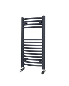 Trade Direct Towel Rail - 22mm, Anthracite Curved, 800x400mm