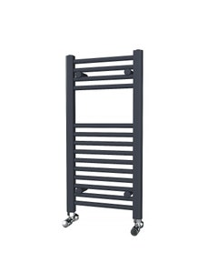 Trade Direct Towel Rail - 22mm, Anthracite Straight, 800x400mm