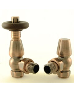 West Thermostatic Valves, Bentley, Antique Copper Angled
