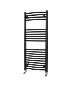 Trade Direct Towel Rail - 22mm, Black Curved, 1200x500mm (Electric)