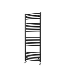 Trade Direct Towel Rail - 22mm, Black Curved, 1400x500mm (Electric)