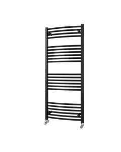 Trade Direct Towel Rail - 22mm, Black Curved, 1400x600mm (Electric)