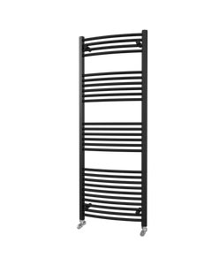 Trade Direct Towel Rail - 22mm, Black Curved, 1600x600mm (Electric)