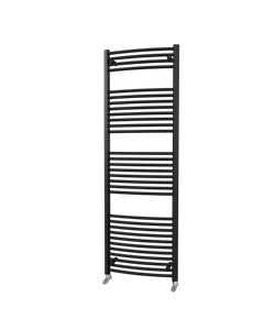 Trade Direct Towel Rail - 22mm, Black Curved, 1800x600mm (Electric)
